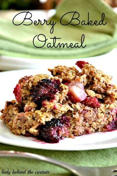 *SUMMER/ BUSY DAYS: Berry Baked Oatmeal. Could be used for breakfast or dessert! Delightful and delicious! A keeper!