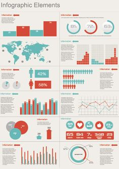 color+themes+for+infographics | Fresh Free Vector Infographic Elements Sets - Creative Beacon