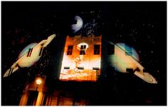 The Glow Project - Adelaide Crescent - Nov 2003 - was a spectacular after-dark multimedia event with a HUGE difference. Images, contributed by local people and artists, were projected on to Adelaide Crescent, a mid 19th century residential development in Hove. The Glow Project tapped into the emotional lives of people who lived behind the walls on which the projections were shinning, illuminating their stories outside in the city. http://www.nathalievin.com/adelaide-crescent