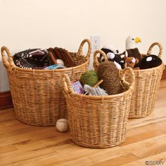 Durable Baskets that'll probably outlive you.  Fair Trade, $85