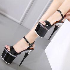 2017 Summer sexy women extreme thin high heels Sandals 8CM platform buckle strap pumps 18cm model pole dance nightclub shoes #highheelsphotography #platformhighheelssandals #highheelsextreme #sandalsheels2017 #danceshoes #platformshoes