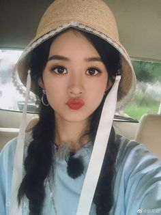 Zhao Li Ying, Ulzzang, Bucket Hat, Hats, Womens Fashion, Beautiful, Style, Idol, Male Celebrities