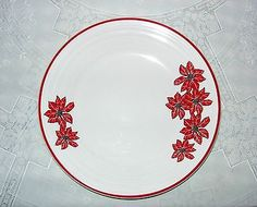 RARE Fiesta Poinsettia Scarlet Red Holiday Lunch Plate Fiestaware New | eBay
