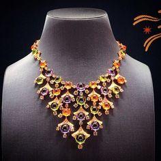#bulgari #amazing #necklace #diamonds #love #colors #diamond #sparkling #art #design #jewelry #luxury #instajewelry #light #jewels #luxurylife #passion #jewel #jewelgasm #shadow #gold #love #passion #amethyst #peridot #violet #orange #green #bvlgari #roma
