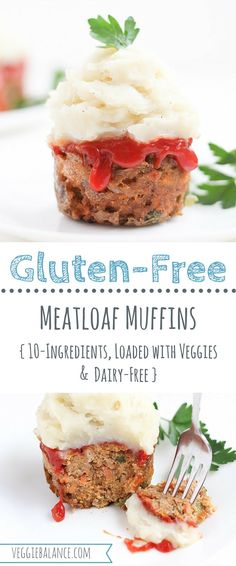 Gluten Free Meatloaf Muffins is the easiest way to serve this classic delicious dish. Add a nutritional boost with extra green pepper, carrots, and onion. Gluten-Free, Dairy-Free and Worcestershire Sauce free for fish allergies.