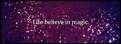 I believe in magic, sparkle, facebook timeline cover photo, purple glitter