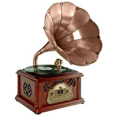 Gramophone Turntable Turntable with Radio CD/Cassette/USB & Direct to USB Recording