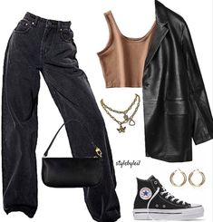 Tomboy Fashion, Teen Fashion Outfits, Retro Outfits, Look Fashion, Streetwear Fashion, Swaggy Outfits, Baddie Outfits Casual, Cute Casual Outfits, Stylish Outfits