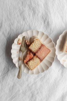 Citrus Rose Battenberg Cake — Butter and Brioche Healthy Desserts, Delicious Desserts, Dessert Recipes, Cake Recipes, Tea Cakes, Cupcake Cakes, Cupcakes, Great Australian Bake Off, Lemon Sponge