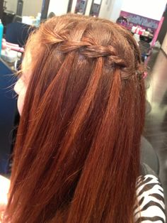 #hair #braid #waterfallbraid