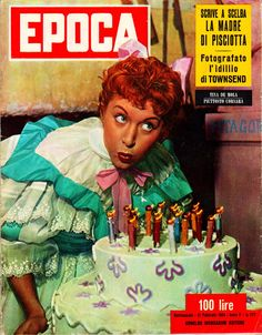 "Tina De Mola - Cover of Italian weekly newsmagazine ""Epoca"" (Age, in historic sense) (21st February 1954)."