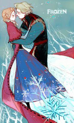 [Frozen]Kristoff/Anna by Wavesheep.deviantart.com on @deviantART