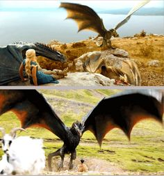 Daenerys and the dragons, Game of Thrones. By hernance.