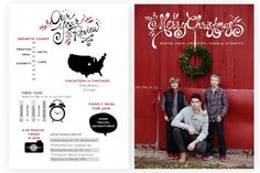 Infographic Christmas Card templates by Jamie Schultz Designs