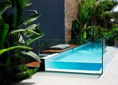pool in a small yard