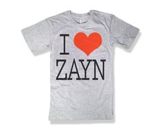 One Direction I Love Zayn Malik Light Gray Shirt - All Sizes Available