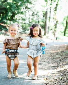 Love these little rompers by LuLu Bunny on Etsy! Get them while you can! // Bow by Free Babes Handmade.