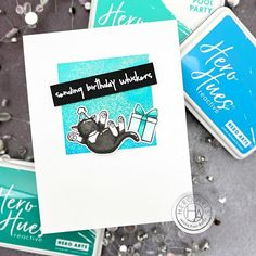 June My Monthly Hero Countdown + Giveaway: Day 3 - Hero Arts Hero Arts Cards, Ink Stamps, Ink Pads, Animal Party, Birthday Balloons, Clear Stamps, Kittens Cutest, Birthday Cards, Cat Birthday