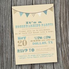 House Warming Party Invitation  Printable Custom by SplashOfSilver, $15.00