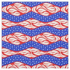 Shop Red White Blue Stars and Swirls Zigzag Fabric created by mscontrary. Pattern Images, Pattern Design, Red White Blue, Quilting Projects, Swirls, 4th Of July, Quilts, Blanket, Artist