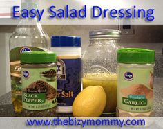 Quick and easy salad dressing recipe, only 5 ingredients!