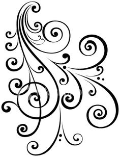 victorian flourish for when one is needed in quilling. pattern for quilling Quilling Patterns, Stencil Patterns, Stencil Designs, Arabesque, Scroll Tattoos, Quilled Creations, Scroll Design, Paper Quilling, Pyrography