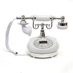 LNC Retro Vintage Antique Style Push Button Dial Desk Tel...
