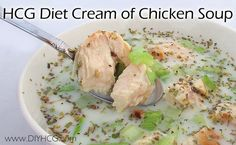 Cream of Chicken Soup that is safe for the HCG diet.... score! www.diyhcg.com