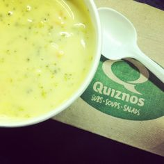 Copy cat recipe for Quiznos Broccoli and Cheese soup...   Make this healthier by reducing butter by substituting with olive or canola oil, low fat cheese and coconut milk
