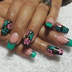 Nail French, Hot Nails, Nail Art Stickers, Flower Nails, Beautiful Nail Art, Snails, Boho Chic, Nail Designs, Hair Beauty