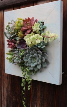 This item is unavailable - Jardin Vertical Fachada Succulent Frame, Succulent Wall Art, Succulent Wall Gardens, Faux Plants, Indoor Plants, Suculentas Diy, Moss Wall Art, Moss Art, Le Hangar