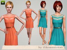 ILikeMusic640's Mesh Chevron Dress AF