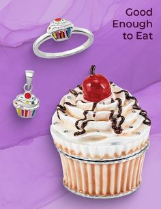 We think that Halloween is a perfect excuse to indulge your sweet tooth. However, rather than the usual holiday-themed goodies, how about whipping up some gem and jewelry-inspired treats that qualify as both eye-candy and culinary triumphs. #QualityGold #Marketing #JewelryBusiness #SmallBusiness #FoodThemedCharms #FoodCharms #FoodThemedJewelry #CupcakeJewelry