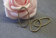 x20 anneaux fermés ovales en cuivre bronze de 24x13 mm COB189 : Apprêts par…