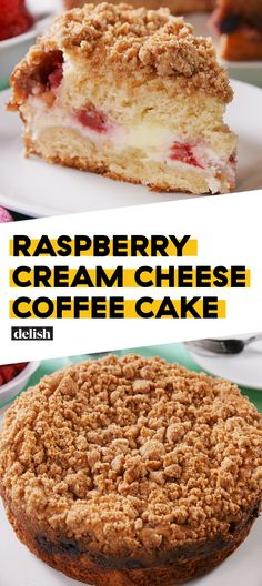 Raspberry Cream Cheese Coffee Cake will make you a morning person. Get the recipe at Delish.com. #raspberry #coffee #coffeecake #cake #creamcheese #breakfast #brunch #delish #recipe #easyrecipe