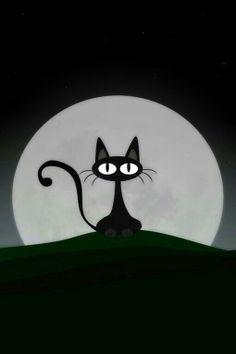 Simplemente un exquisito gato negro