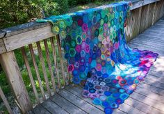 Crochet Noro hexagon blanket http://www.ravelry.com/projects/doubletake/hexagon-how-to  Finished Noro Hexagon Blanket  #crochet #noro #hexagon