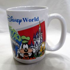 VTG Disney World Mug Earfful Tower MGM Studios Epcot Monorail Castle Fab Five #Disney