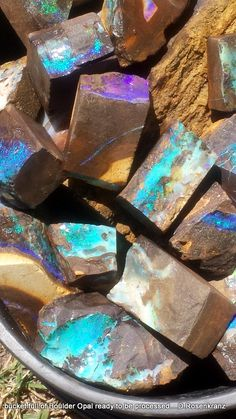 Bucket Full of Boulder Opal Ready to be Processed