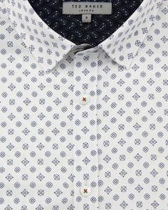 Ornate geo print shirt - White | Shirts | Ted Baker