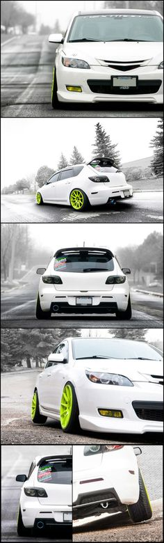 Mazda 3. #Mazda #RX8 #Miata #JDM #Rvinyl  Like what you see? Get the look: http://www.rvinyl.com/Mazda-Accessories.html