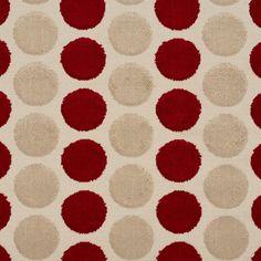 Cut Velvet 20780-06 1 Red, Gold, Beige