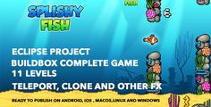 Flappy Fish - Buildbox complete game and Eclipse project . This is an addicting game template. You can reskin and use this game template to publish your own game in Google Play. This is complete game, so, there is no need to code. This is an opportunity to have a state-of-the-art game mechanics in your