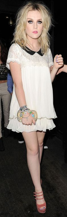 Perrie Edwards lace smock at Jesy Nelsons birthday - Girly  Gorgeous