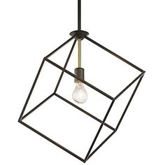 Kichler Cartone Pendant (2.297.625 IDR) ❤ liked on Polyvore featuring home, lighting, ceiling lights, bronze, ceiling mount lights, mounted lights, kichler lighting, kichler light and square lamp
