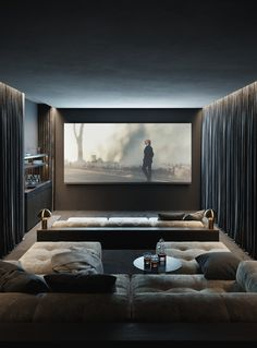 Home Theater Design is one of the most thing nowadays. We always looking for Home Theater ideas. Home Teater room design is the best choice. Home Design, Home Theater Room Design, Home Cinema Room, Home Theater Rooms, Home Interior Design, Cinema Room Small, Home Theater Decor, Home Theater Basement, Basement Movie Room