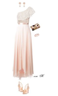 """""""Light and powder pink!"""" by eva-kouliaridou ❤ liked on Polyvore featuring Lanvin, Miguelina, Christian Louboutin, Ellen Conde and Ross-Simons"""