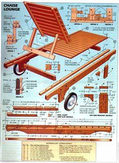 DIY Sun Lounge - Outdoor Furniture Plans Outdoor Plans