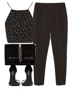 """""""Untitled #5214"""" by laurenmboot ❤ liked on Polyvore featuring moda, Zara, Topshop, Yves Saint Laurent, women's clothing, women, female, woman, misses e juniors"""