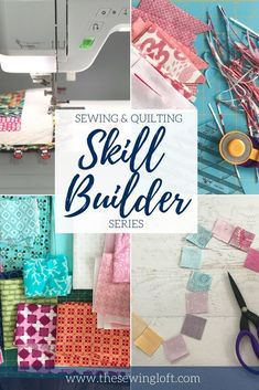 New to sewing or quilting? The sewing skill builder series is a great way to perfect your technique, sharpen your skills and grow your comfort level. The Sewing Loft Quilting For Beginners, Quilting Tips, Quilting Tutorials, Sewing For Beginners, Craft Tutorials, Sewing Tutorials, Beginner Quilting, Craft Ideas, Sewing Hacks